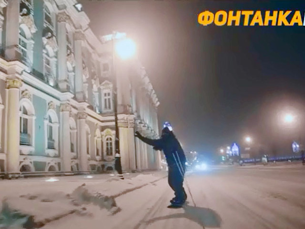 Сноубордисты покорили набережные Петербурга