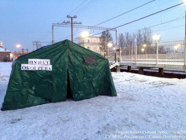 В Петербурге открыты дополнительные пункты обогрева граждан