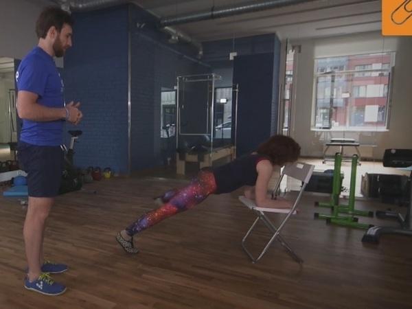 Производственная гимнастика - работа с прессом без стресса