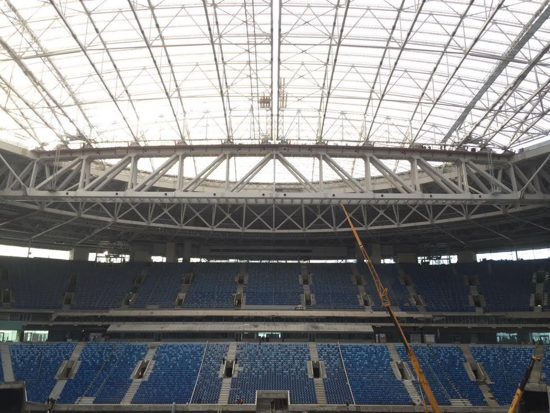 Раздвижная крыша стадиона «Зенита» сдвинута полностью (Иллюстрация 1 из 1) (Фото: Читатель