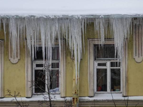 Петербуржцы обсуждают в соцсетях сосульки-убийцы