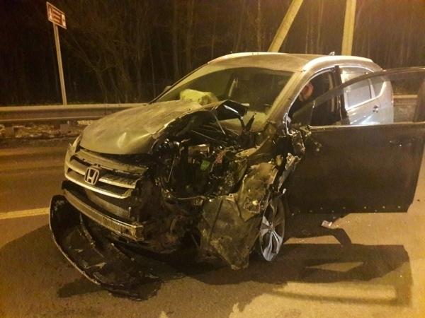 На Дороге жизни столкнулись несколько машин
