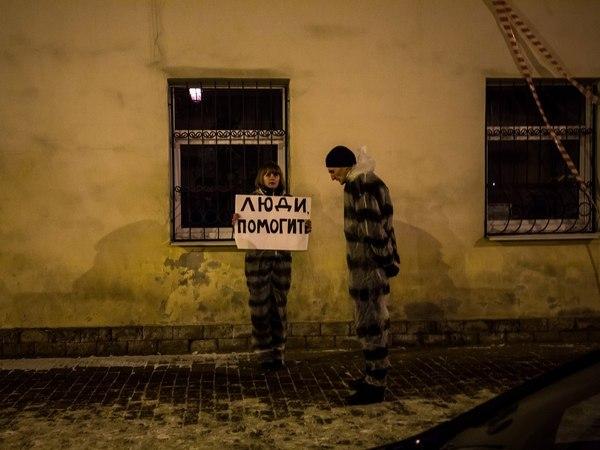 В Петербурге в УФСИН не поняли полосатый рейд от движения «Весна»