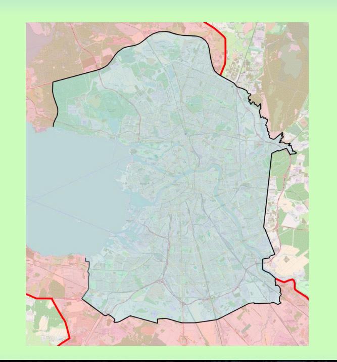 Разделение города на две зоны