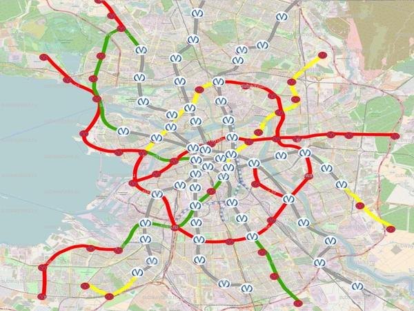 Новая схема развития метро: без Пулково и Стрельны