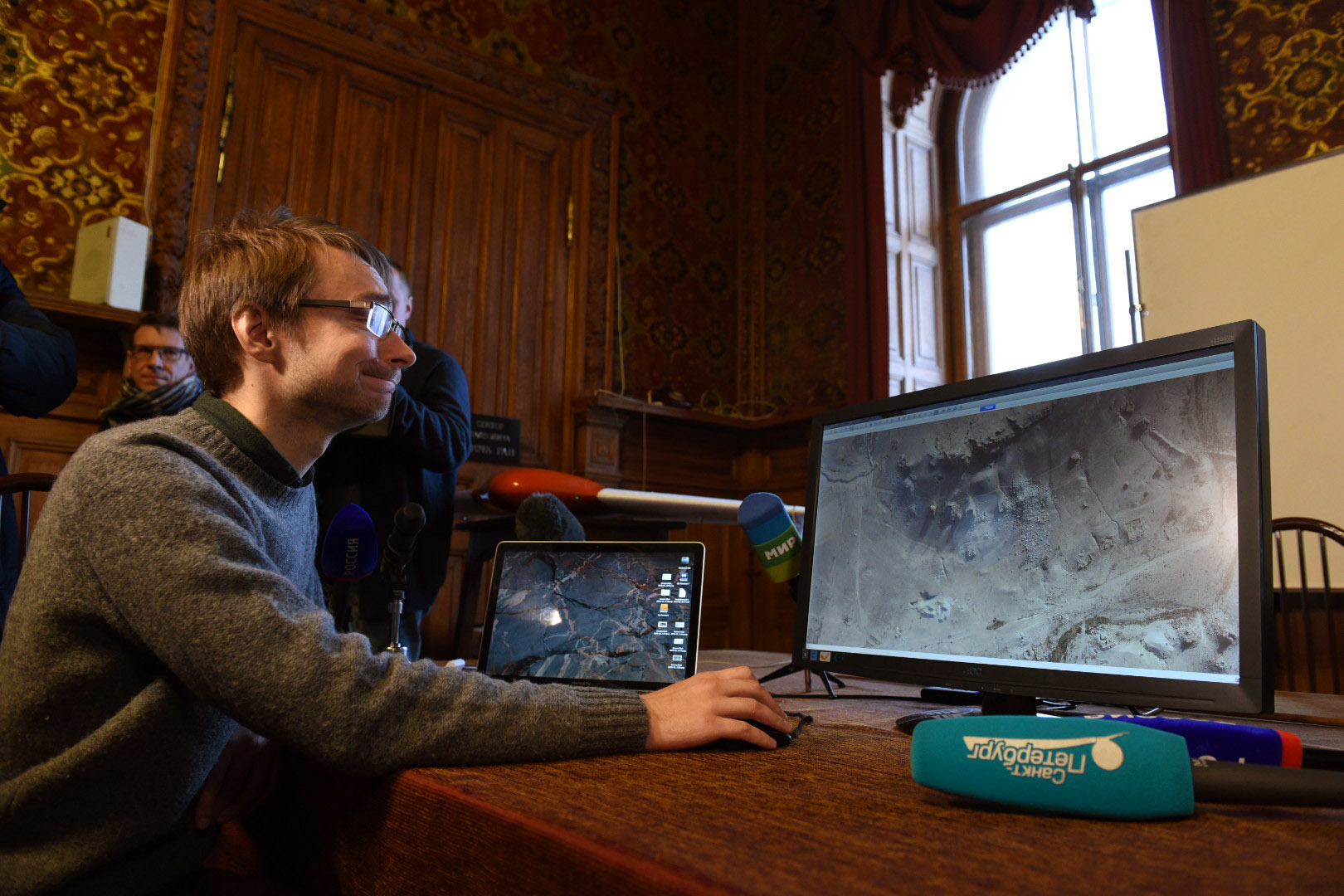 Егор Блохин показывает 3D-модель