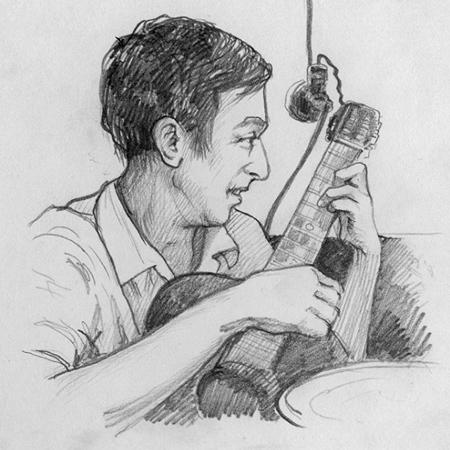 Портрет Зиновия Биртмана работы неизвестного автора. Обнаружен Александром Ширниным в архиве Дома творчества композиторов в Старой Рузе.