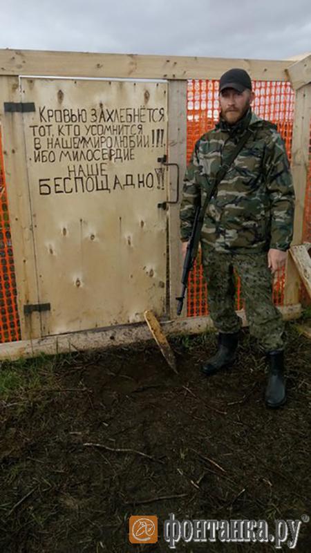 Максим Колганов на тактическом стрельбище в Молькино (Фото: читатель