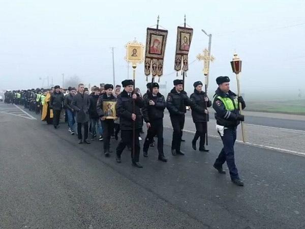В Краснодарском крае на борьбу с ДТП поставили иконы