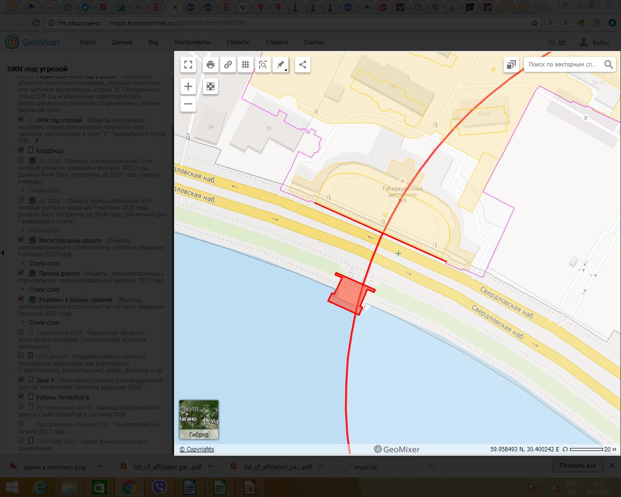 У-резать памятник по Генплану (Иллюстрация 6 из 10) (Фото: скриншот с сайта maps.kosmosnimki.ru)