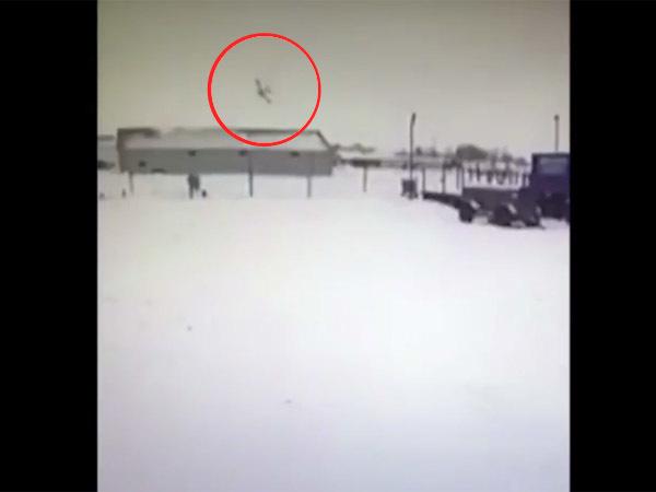 Крушение самолёта в Нарьян-Маре попало на видео