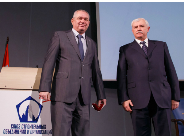 Гендиректор АО «ЛенСпецСМУ-Реконструкция» награжден почетным знаком