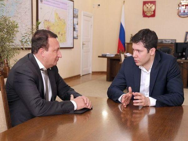 Состоялась рабочая встреча председателя Северо-Западного банка Сбербанка и губернатора Калининградской области