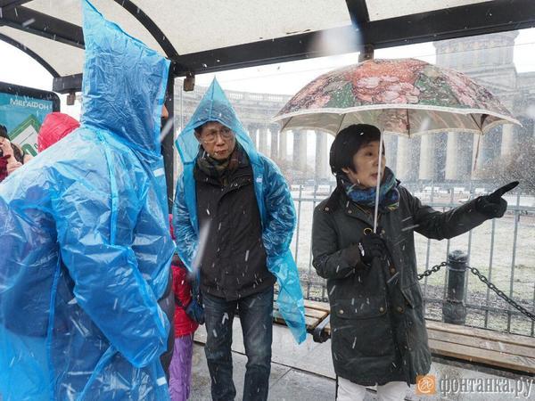 Апрельский снег в Петербурге