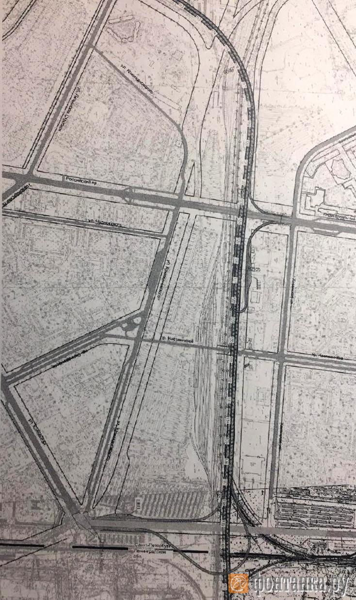 На схеме участка ВСД, вынесенной на рассмотрение комиссии по изменениям Генплана, видно, что трассировка не заденет улицы Ворошилова и Хасанскую (Фото: