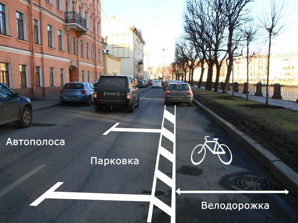 Как машины и велосипедисты встретятся на Фонтанке