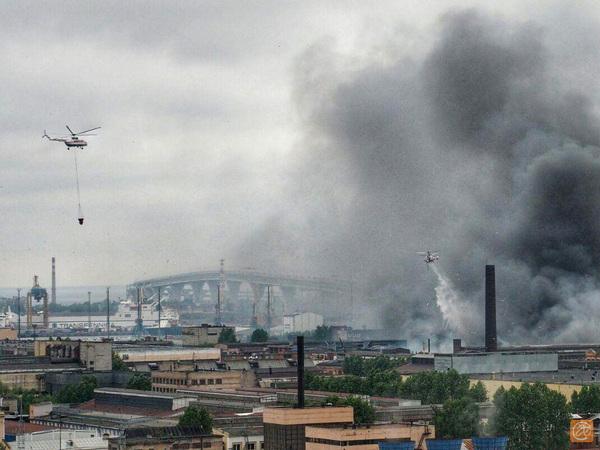 Пожар на Кировском заводе локализован