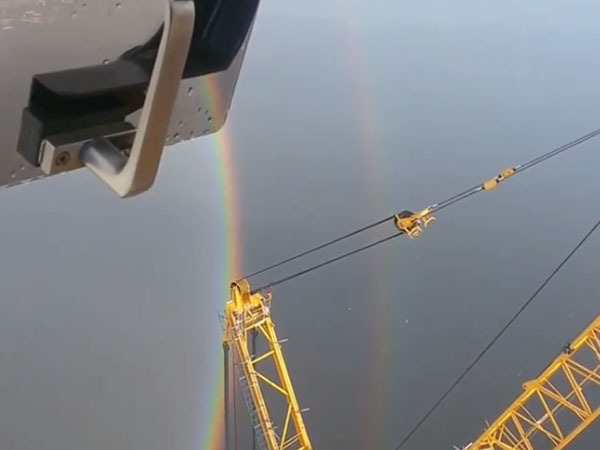 Над Петербургом появилась круглая радуга