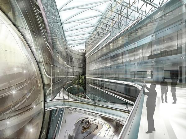 В самом большом здании комплекса Лахта Центра закончены основные монтажные работы