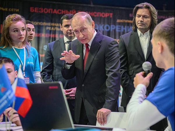 Путин и дети