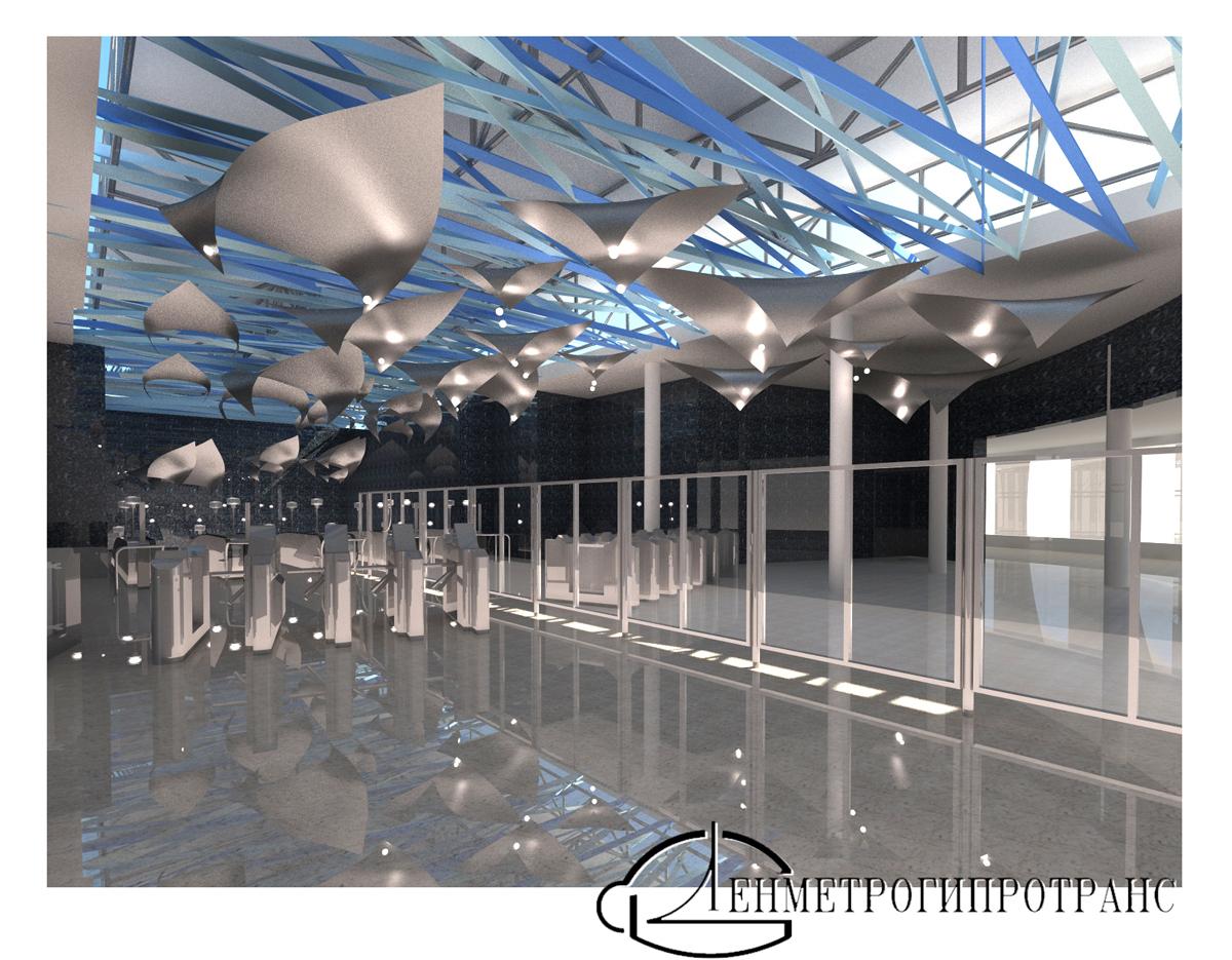 проект оформления вестибюля станции