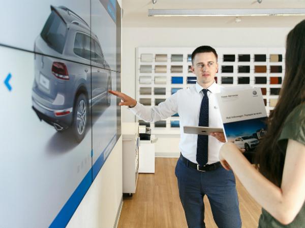 Первый цифровой шоу-рум Volkswagen в Петербурге