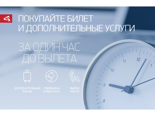 Удобный сервис «Уральских авиалиний» - покупка билета за час до вылета
