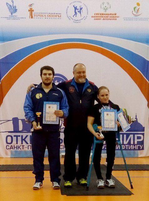 Марина Бекетова и Магомед Джамалов с тренером