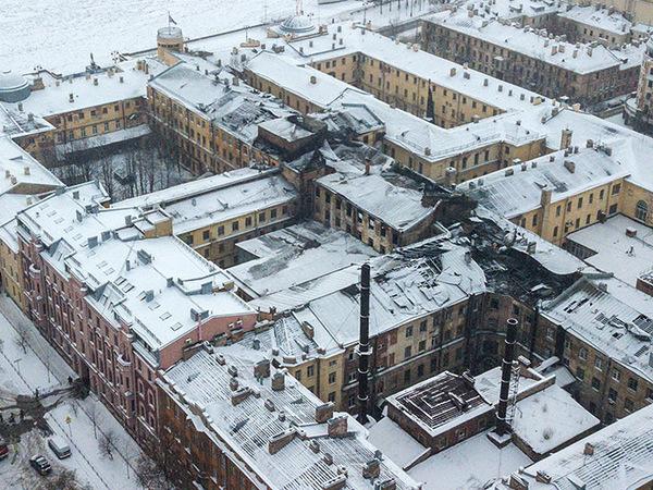 «Фонтанка» показывает, как выглядит Военно-морской институт после пожара