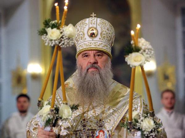 Митрополит Варсонофий поздравил петербуржцев с Рождеством
