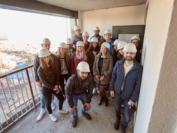 Студенты Политеха вновь посетили строительную площадку Группы «Эталон»