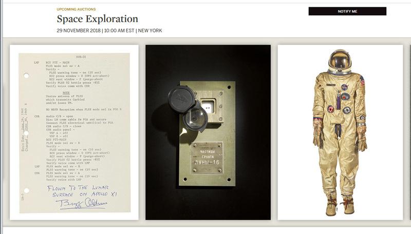 НаSotheby's выставят добытые межпланетной станцией СССР фрагменты Луны