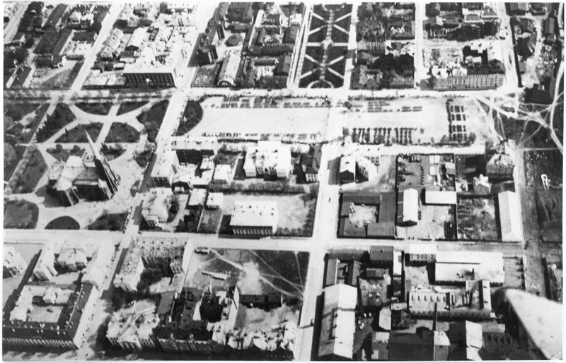Снимок центра Выборга с воздуха