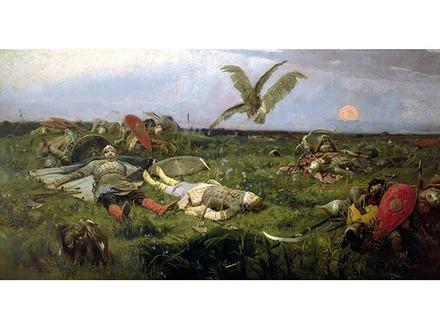 После побоища Игоря Святославича с половцами, В.И. Васнецов, 1880