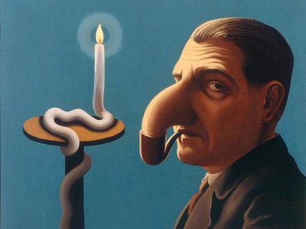 Рене Магритт «Лампа философа» (1936), фото предоставлено Amos Rex