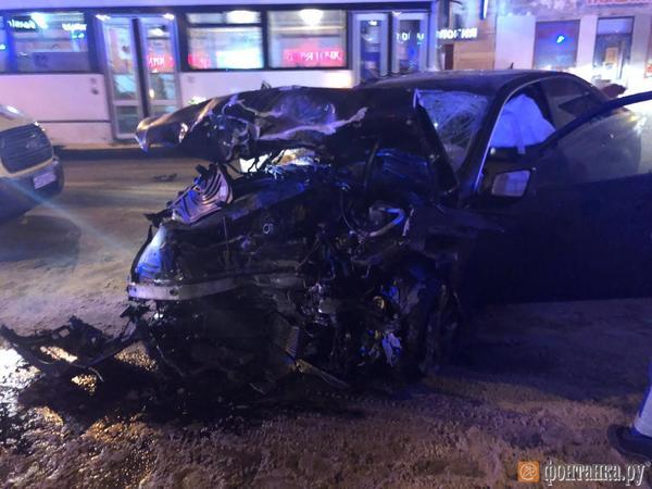 Один из водителей, попавших в смертельное ДТП на В.О., был пьян