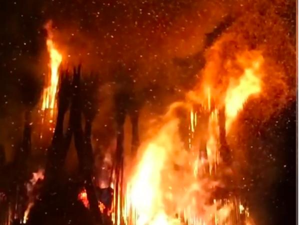 В РПЦ возмутились сжиганием арт-храма на Масленицу