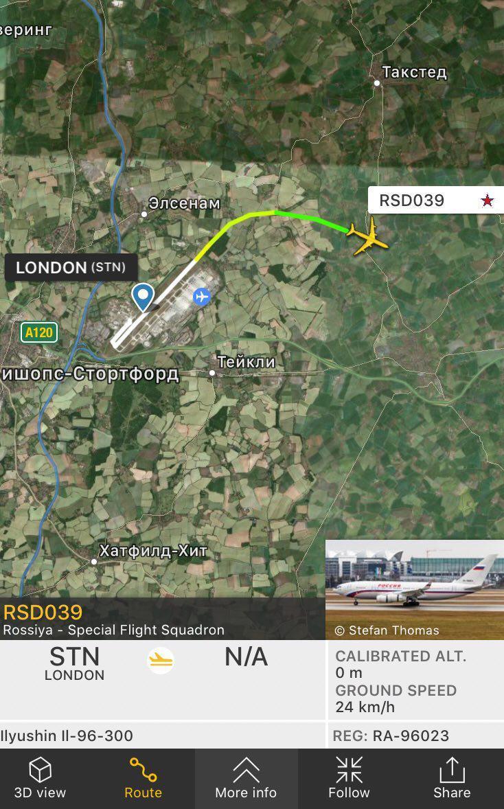 Высланных из Британии дипломатов возвращает на родину «кокаиновый» самолет (Иллюстрация 1 из 1)