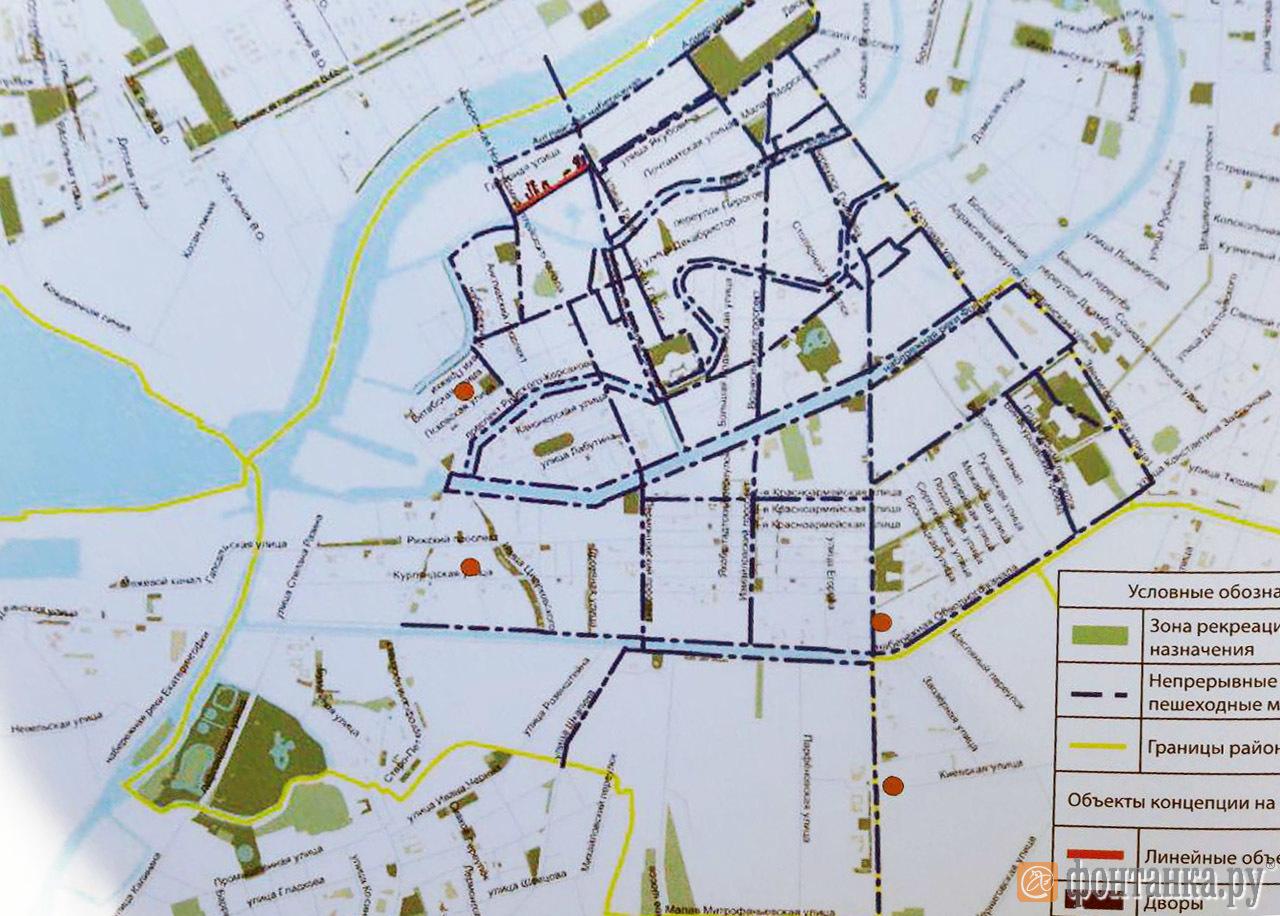 Предложение по непрерывным пешеходным маршрутам