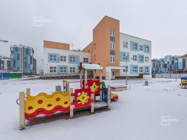 Setl City достроила каркас второго детского сада в ЖК «Чистое небо»