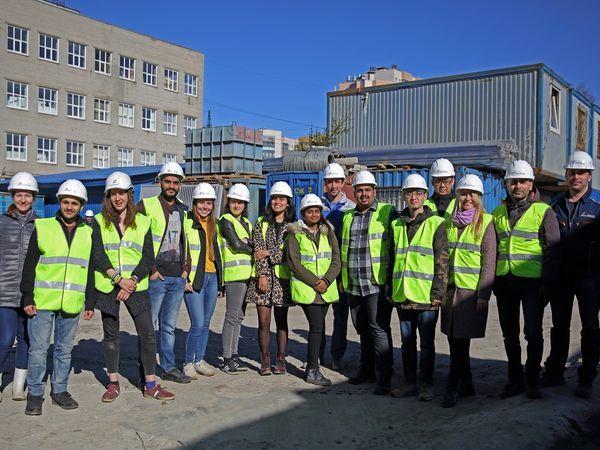 Студенты вновь посетили стройплощадку Группы «Эталон»