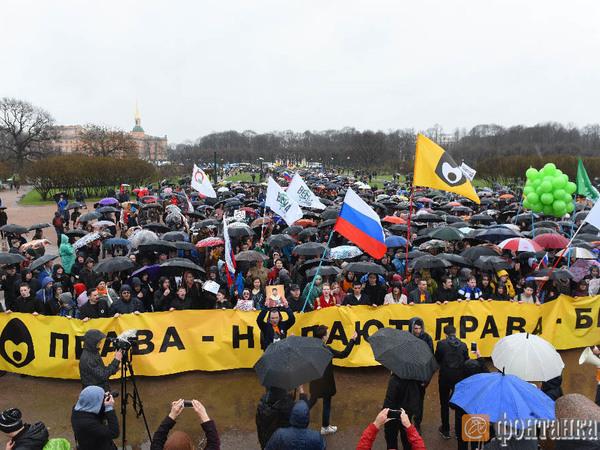 Марш за свободный Интернет и в защиту Петербурга дошёл до Марсова поля