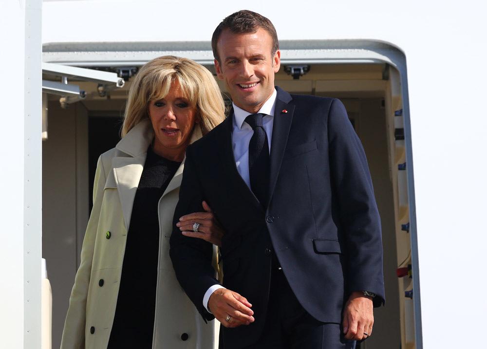 Франсуа Макрон с супругой