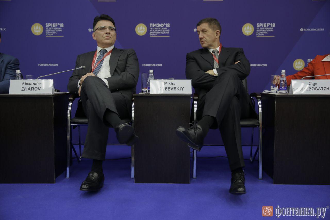 Александр Жаров (Роскомнадзор) и Михаил Осеевский (Ростелеком)