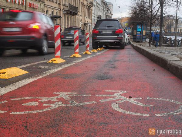 Велодорожки Петербурга нарисуют заново