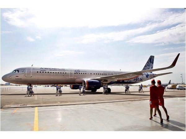 Аэрофлот презентовал самолет в юбилейном ливрее