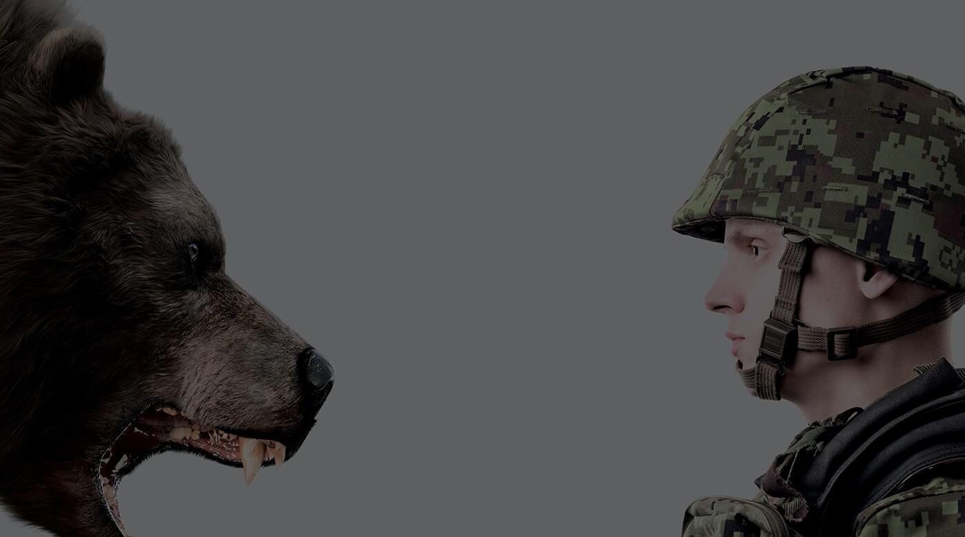 В агитматериалах эстонских ВС солдат сражается с медведем и Т-90, наступающих с запада (Иллюстрация 1 из 1) (Фото: <a href=