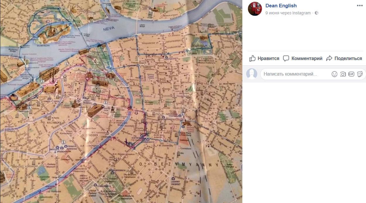 Иностранные болельщики про Петербург: Не совсем Мальдивы, но метро в Автово блестящее (Иллюстрация 1 из 1) (Фото: скриншот с сайта facebook.com)