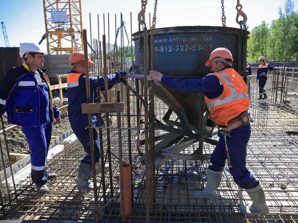 Первый бетон залит в фундамент ЖК «Охта Хаус» от «Эталон ЛенСпецСМУ»