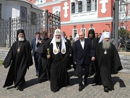 Путин прилетел на Валаам